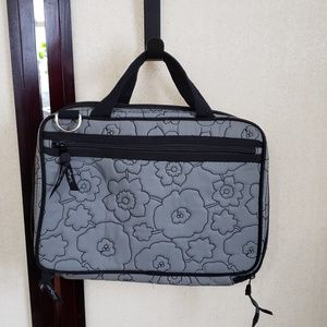 Thirty one 31 grey floral travel case flower
